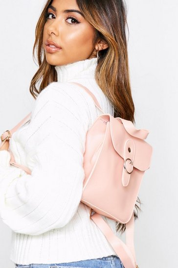 Blush Square Ring Detail Backpack