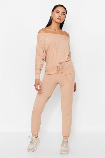 Stone Off The Shoulder Jumpsuit