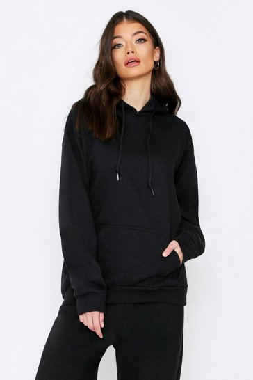 Black Off Limits Oversized Hooded Sweat