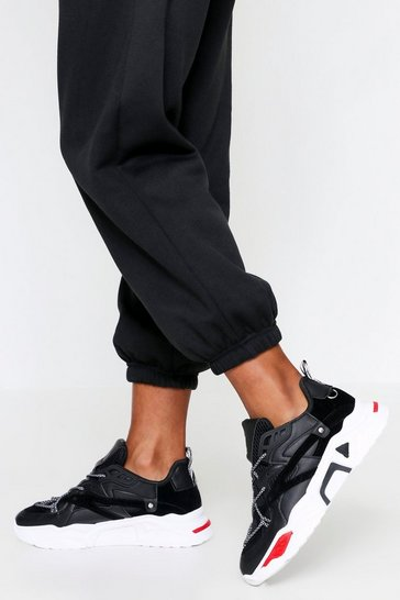 Black Contrast chunky sole trainers