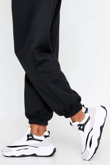 Black Chunky contrast detail trainers