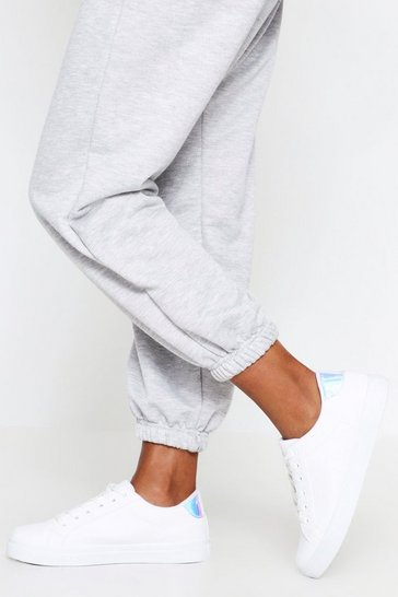 White Lace Front Tab Back Trainer