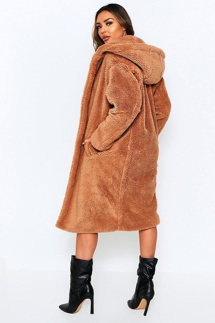 longline fur coat