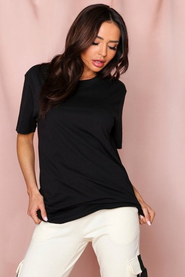 Black Oversized Boyfriend T-Shirt