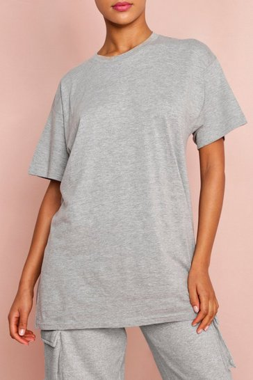 Grey marl Oversized Boyfriend T-Shirt