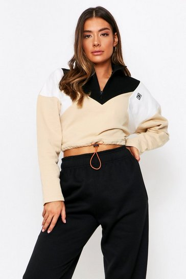 Sand Colourblock M Embroidered Sweatshirt