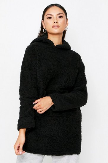 Black Teddy Hooded Sweater