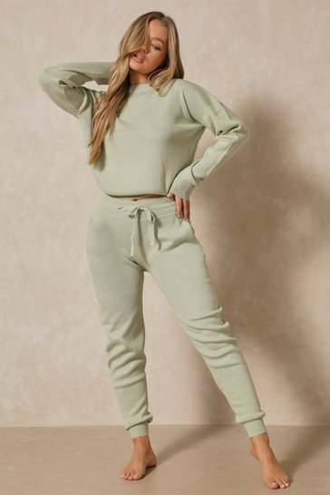 Sage Crew Neck Lounge Set