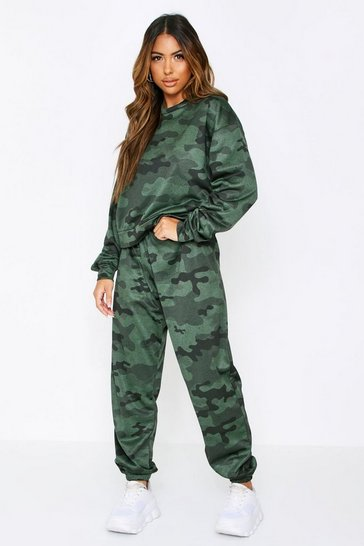 Green Camo Oversized Tracksuit