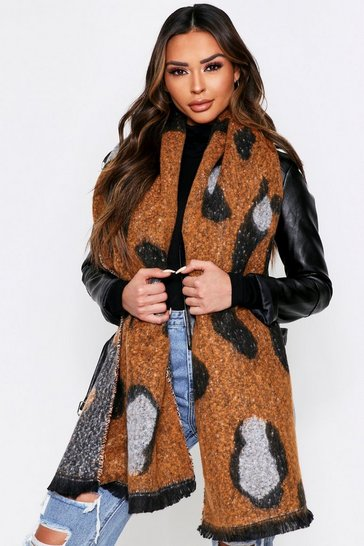 Leopard Soft Knit Oversized Scarf