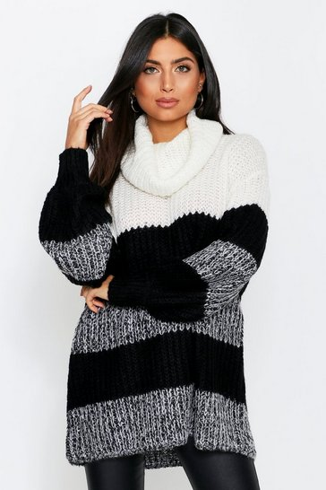 Ecru Oversized Ribbed Jumper