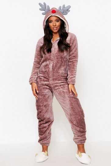 Brown Reindeer 3D Fluffy Onesie