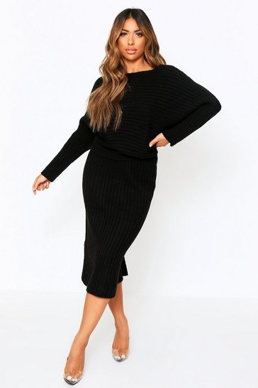 Black Knitted Oversized Jumper