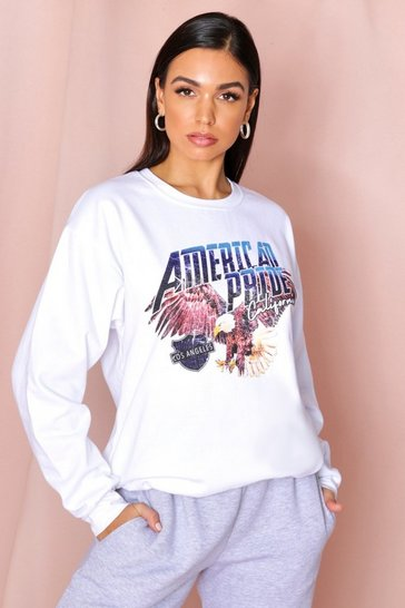 White oversized retro Sweatshirt