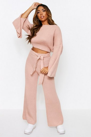 Blush Knitted Trouser & Jumper Co Ord