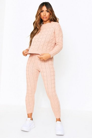 Blush Cable Knit Co-Ord