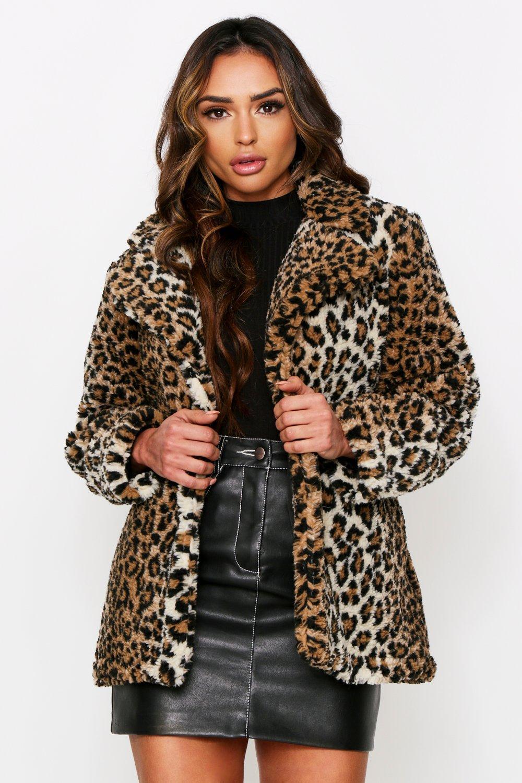 Leopard Print Teddy Coat Leopard Print Teddy Coat by Misspap