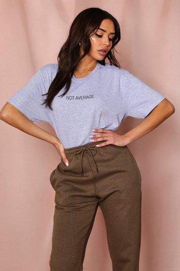 Grey marl Not Average Oversized T Shirt