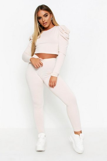 Cream Puff Sleeve Legging Lounge Set
