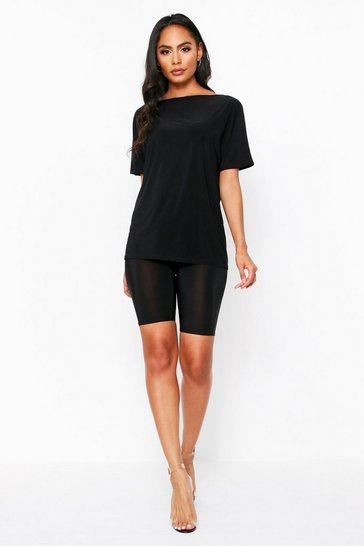 Black Oversized T shirt Co Ord