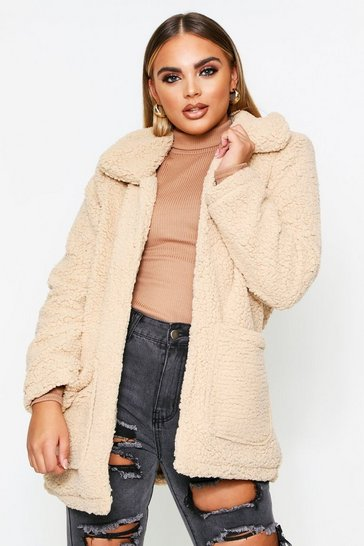 Womens Caramel Teddy Coat