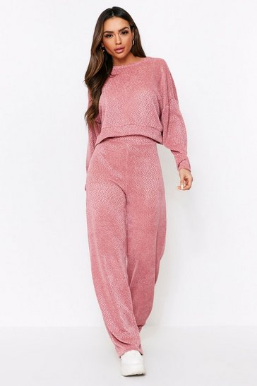 Rose Open Back Knitted Lounge Set
