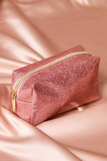 Pink Small Glitter Make Up Bag
