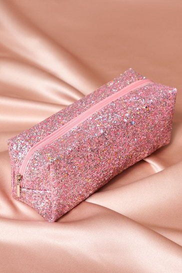 Pink Glitter Make Up Bag