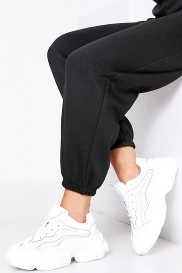Womens White Chunky Trainer Premium