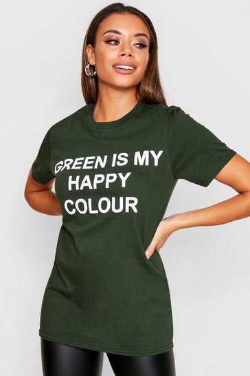 Green My Happy Colour Charity T-Shirt