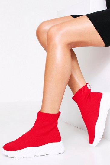 Womens Red Sock Trainer