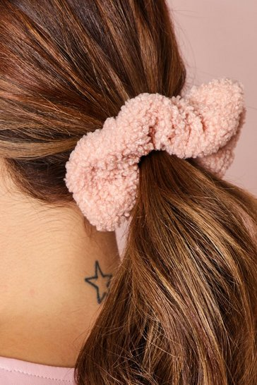 Blush Shearing Teddy Scrunchie
