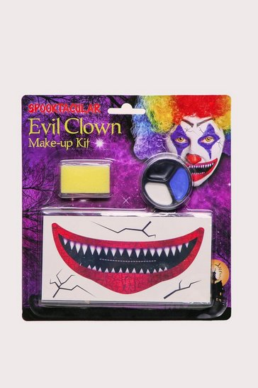 Multi Evil Clown Make Up Kit