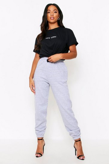 Grey 90s Style Oversized Joggers