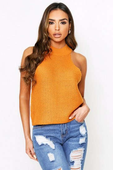 Amber High Knitted Top
