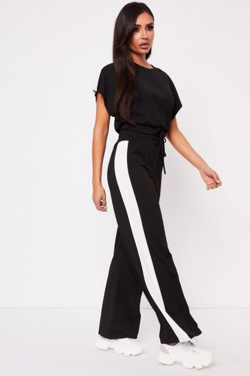 Womens Black Boxy Drawstring Co-ord