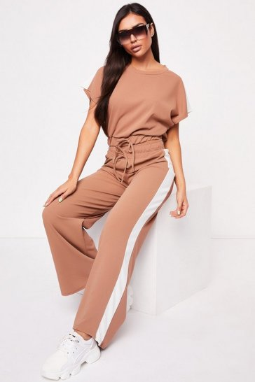 Womens Camel Boxy Drawstring Co-ord