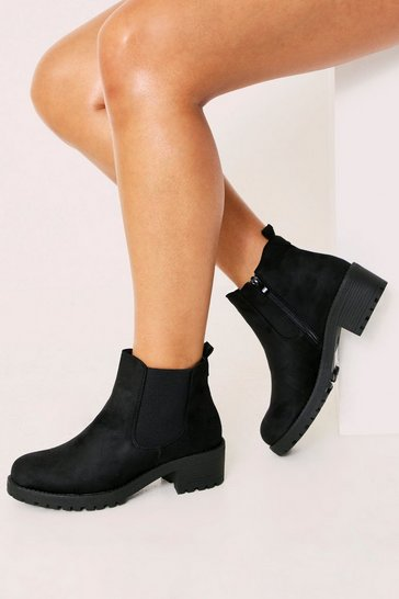 Womens Black Basic Chelsea Boot