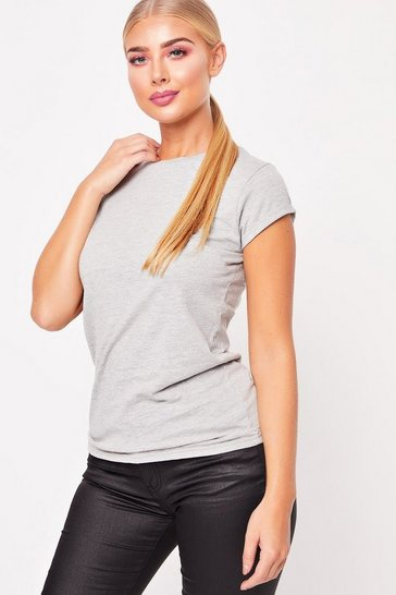 Womens Grey Basic T-Shirt