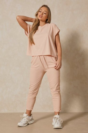 Blush Bandage Boxy Lounge Set