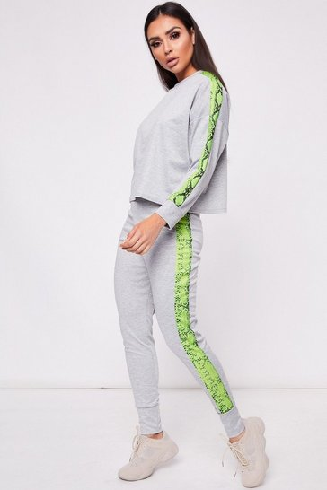 Womens Lime Stripe Loungewear Set