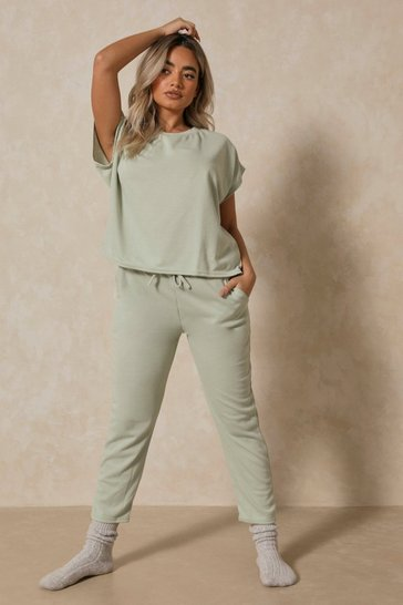 Sage Short Sleeve Boxy Loungewear Set