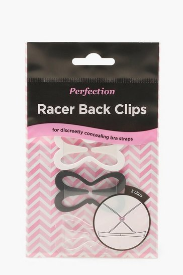 Womens Clear Racer Back Clips