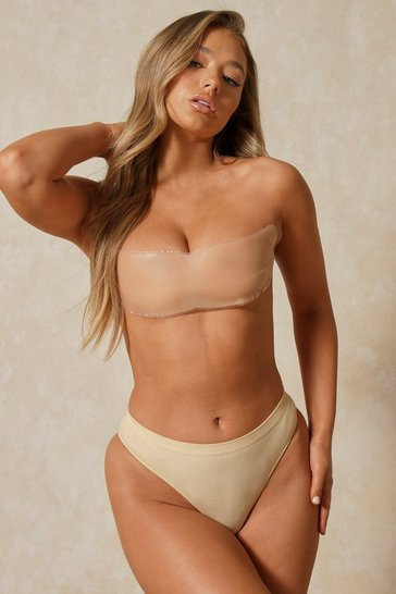Nude Silicone Backless Bandeau Bra Small (A/B)