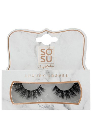 Womens Black SOSU Vogue Lashes - 3D Luxury Fibre Lashes