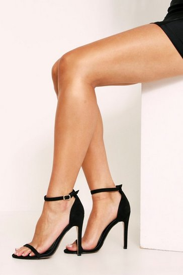Womens Black Two Part Heel