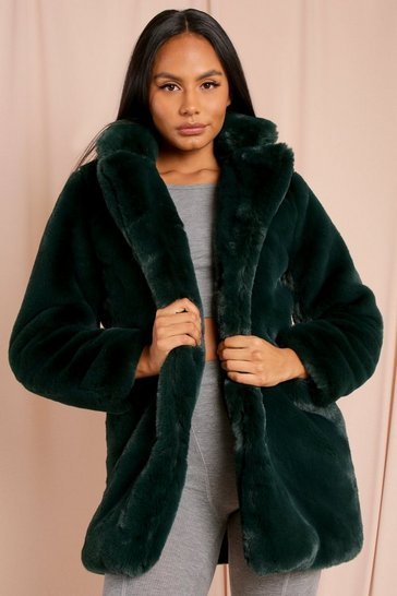 Emerald Oversized Faux Fur Coat