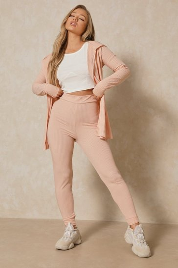 Blush Wrap Back Cardigan & Legging Co Ord