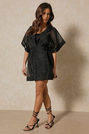 Womens Neave black mesh dress