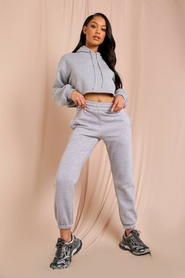 Grey Oversized Fleece Jogger